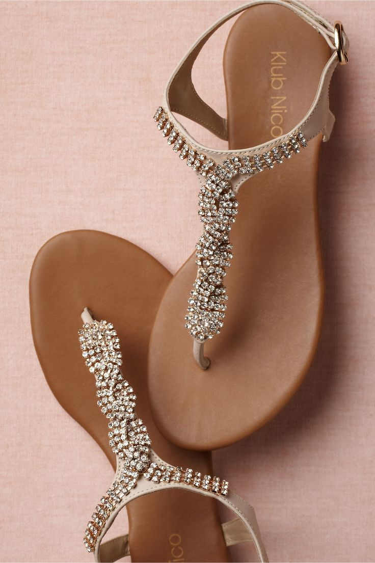 Sandals honeymoon shoes with rhinestone - Radiant Sandals In Shoes Accessories Shoes At Bhldn