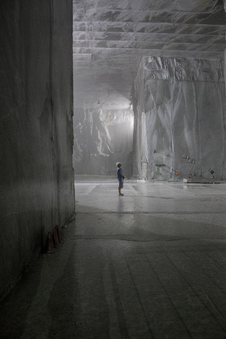 Carrara Marble Quarry, inside the mountain
