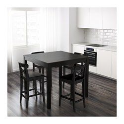 IKEA - BJURSTA, Bar table, The clear-lacquered surface is easy to wipe clean.