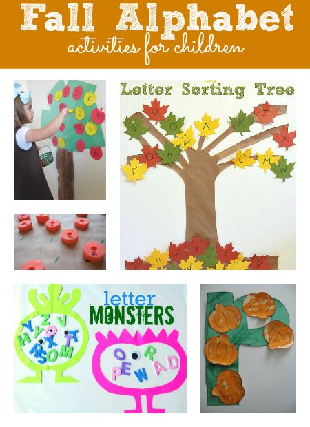 fall alphabet activities for kids- Pinned by @PediaStaff – Please Visit  ht.ly/63sNt for all our pediatric therapy pins