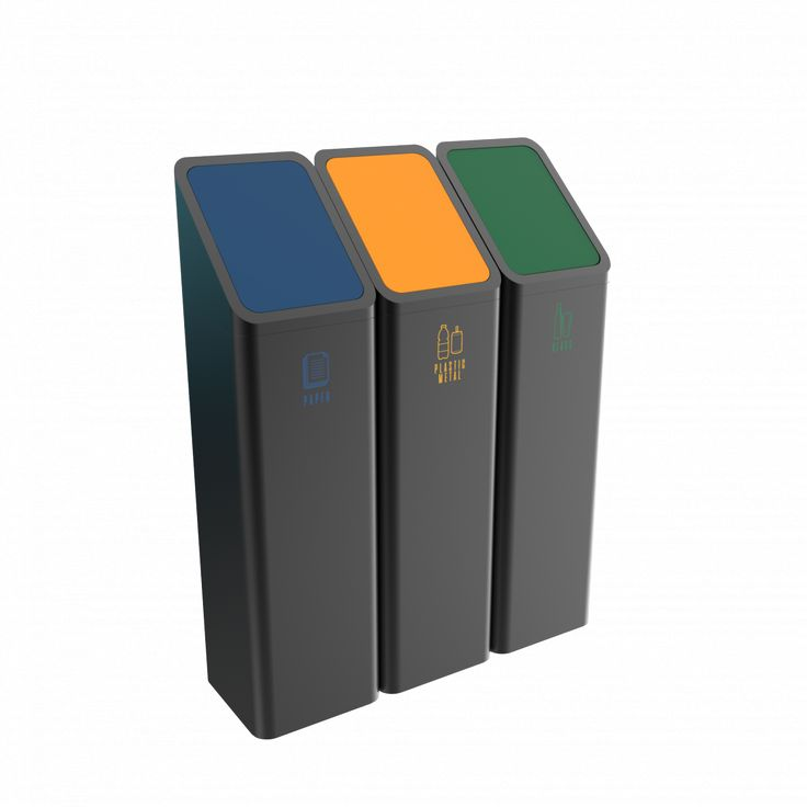 BONANZA PC - Office style powder coated metal recycling bins
