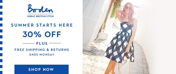 30% Off Mini Boden Coupon Code & Boden Coupon Code - FREE Shipping & Returns
