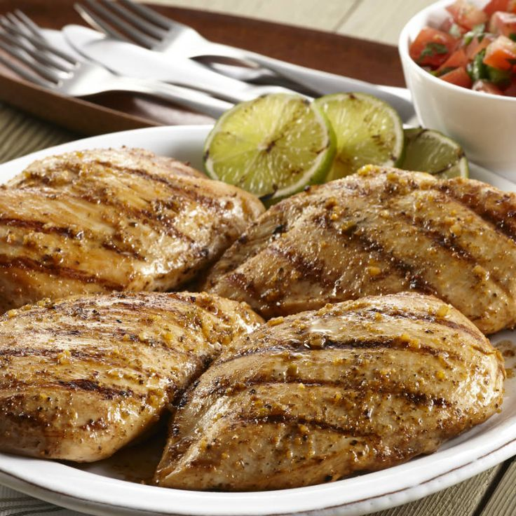 ... chicken breasts that's been marinated in the bold new Grill Mates