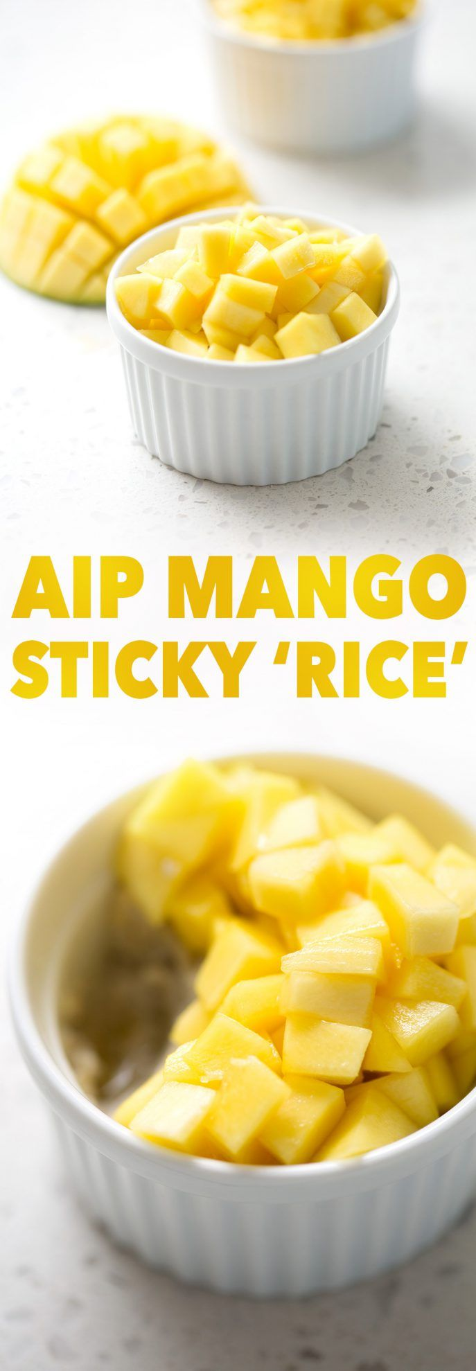 Here's a Mango 'Sticky Rice' that's full of coconut flavor, just minus the rice. Plantains replace the rice in this recipe to make it AIP-friendly. This recipe is allergy friendly (gluten, dairy, shellfish, nut, egg, and soy free) and suits the autoimmune protocol diet (AIP) and paleo diets.