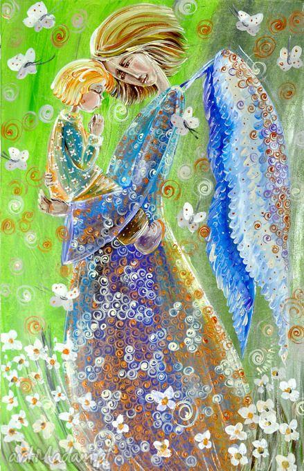 Dziecięca modlitwa obrazy marina czajkowska anioł anioły aniołek