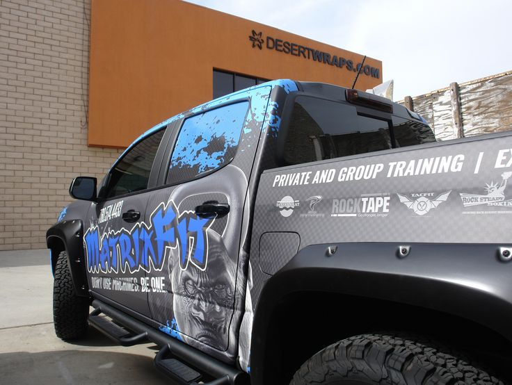 We had a lot of fun creating and producing this two-toned wrap for @MatrixFit1. Give us a call today to get started on your own vehicle wrap. 760-935-3600