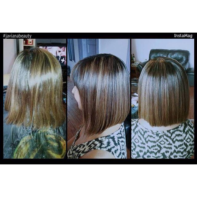 Mechas color caramelo más shock keratina #javianabeauty #hair #hairinstagram #hairinspiration #cabellohermoso #cabellosano.