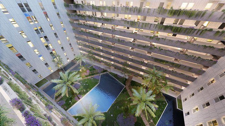Fragmentos de Arquitectura | Edifício na Baía de Luanda | Piscina | Swimming Pool | Arquitetura | Architecture | Atelier | Design | View | Garden | Exteriores | Outdoor | Details