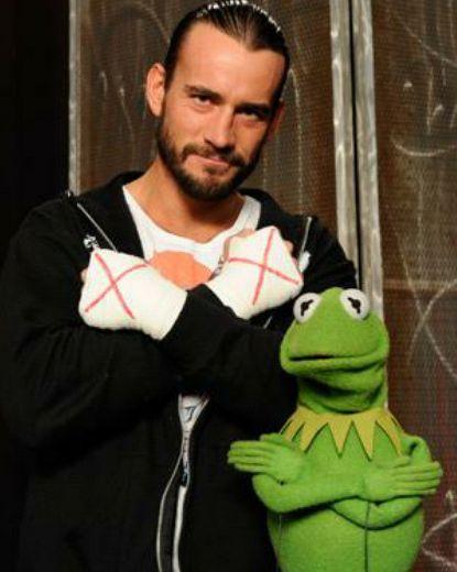 CM PUNK & Kermit lol