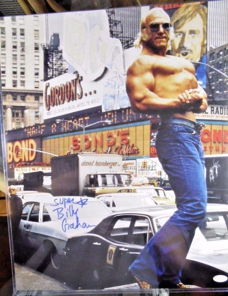 "SUPERSTAR BILLY GRAHAM Autograph Photo 16"" x 20"" WWE Wrestling"
