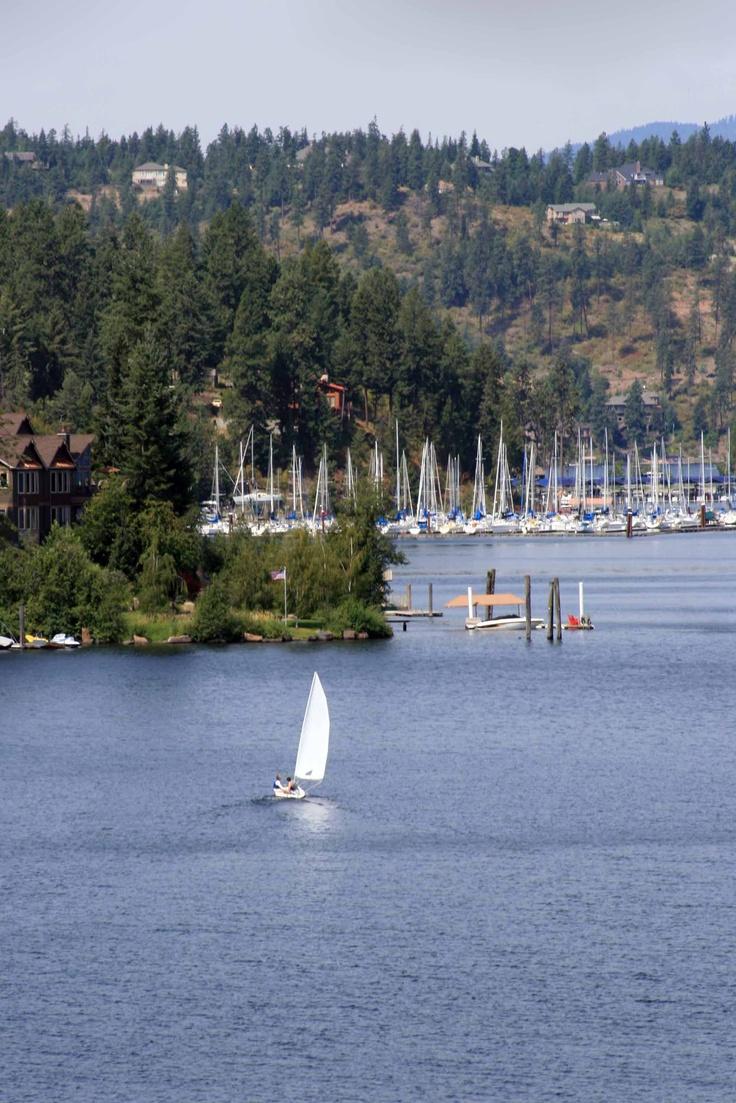Coeur dalene sailboat coeur dalene centennial trail