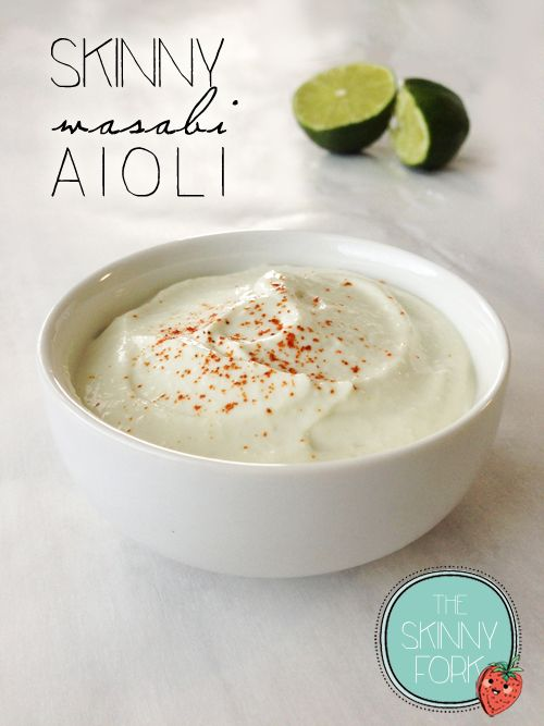 You can enjoy this aioli with any sort of asian style dish. Yes. Even sushi! Super easy and only 38 calories in a serving!