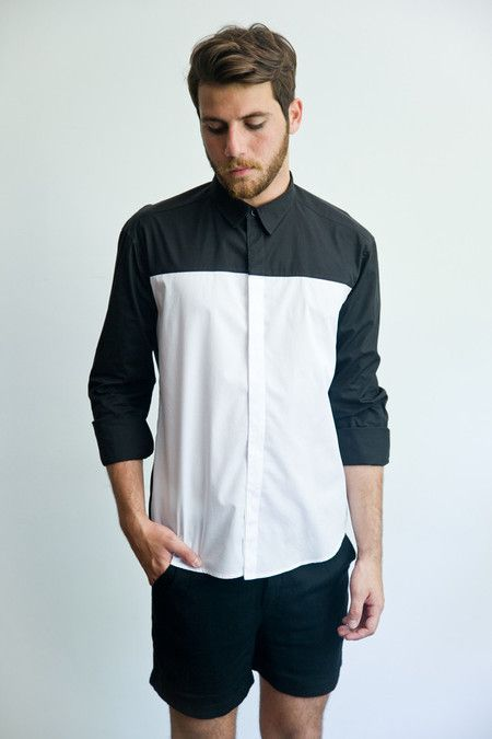 Two Panelled Block Shirt.