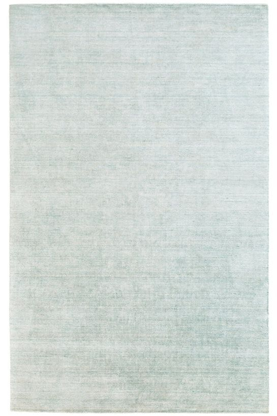 Alloy Pearl Blue Loom Knotted Bamboo Rug