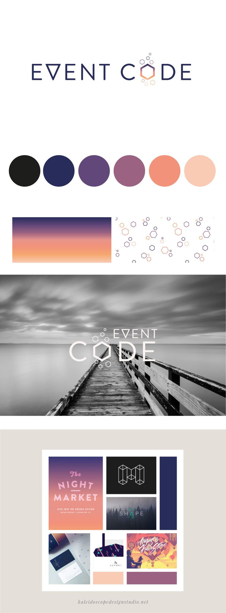 Event Code Brand Styling - Kaleidoscope Design Studio