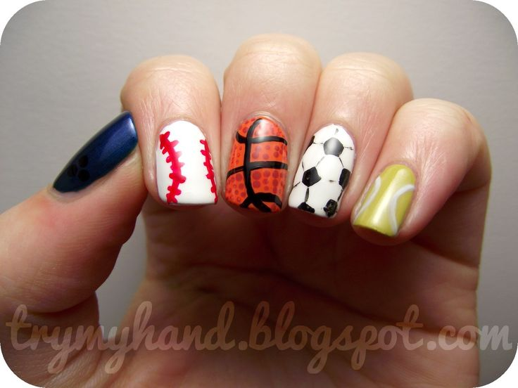 107 best Sports Nail Designs images on Pinterest | Football nail art ...