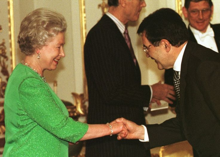 Romano Prodi, prime minister of Italy, 1998 | Queen Elizabeth II Pictured With World Leaders During Her Record-Breaking Reign