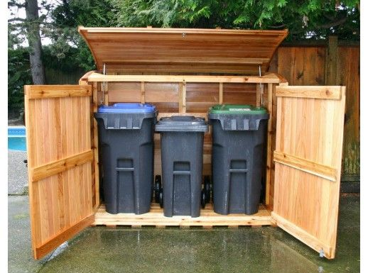 1000 Images About Garbage Can Shed On Pinterest: 17 Best Images About Hiding Bins On Pinterest