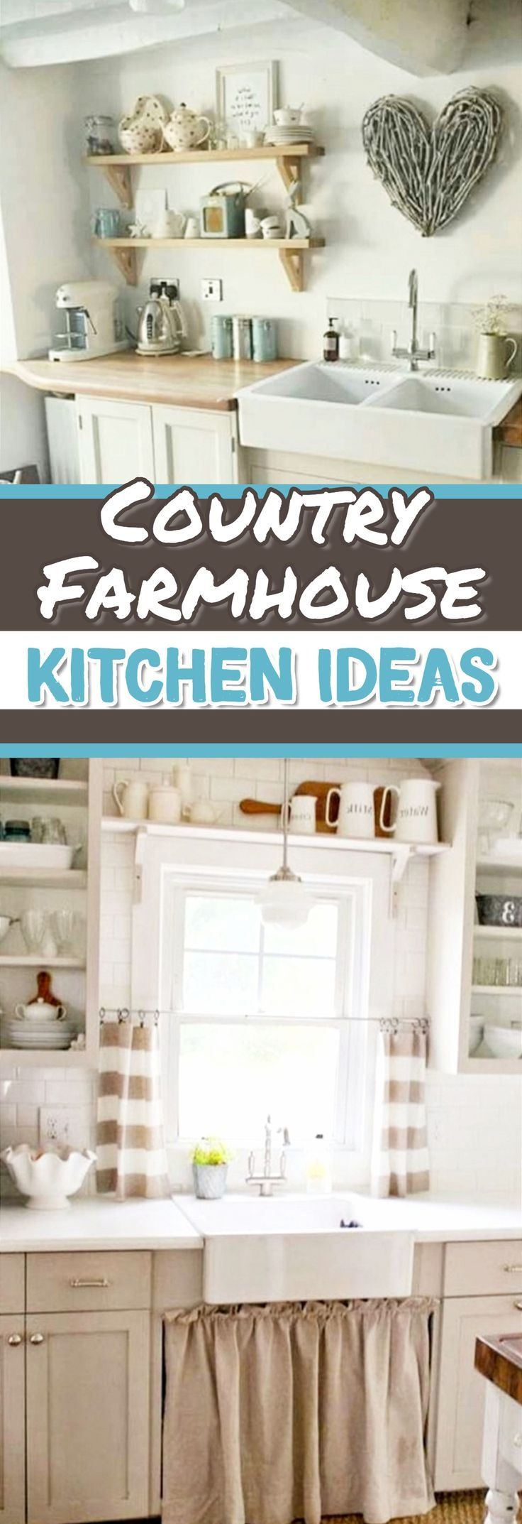 Farmhouse Country Kitchen Designs: 233 Best Farmhouse Country Kitchen DIY Decorating Ideas