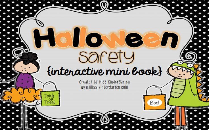 Friday Freebie Halloween Safety Book Halloween safety
