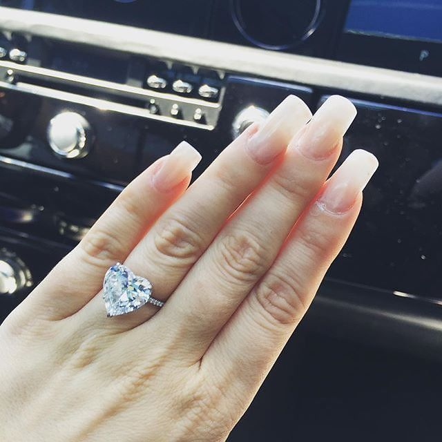 The couple: Lady Gaga and Taylor Kinney The ring: A 6-carat heart-shaped diamond from jeweler Lorraine Schwartz