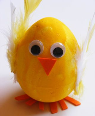 Polystyrene chick egg