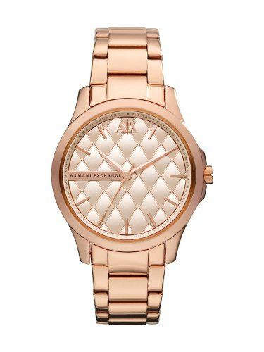 Armani Exchange Fashion Rose Gold Watch AX5202 A|X Armani Exchange. $163.75. Quilted Pattern on the Dial. Rose Gold-tone Stainless Steel Case