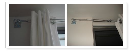 21 best Tension wire images on Pinterest | Curtain rods, Curtain ...