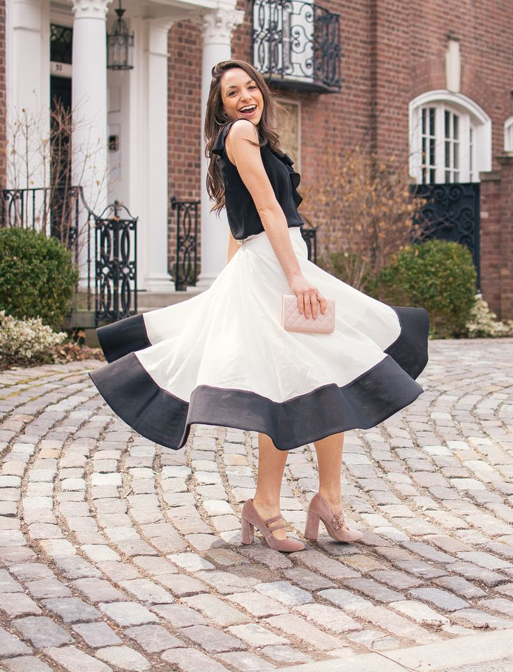 My Favourite Twirl Skirts – The Pink Brunette Fashion