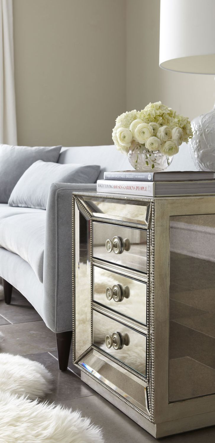25 Best Ideas About Mirrored Side Tables On Pinterest Mirrored Nightstand Mirror Furniture
