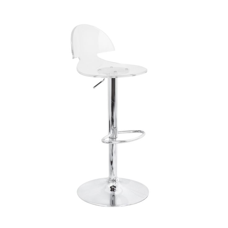 LumiSource Modern Venti Barstool in Clear