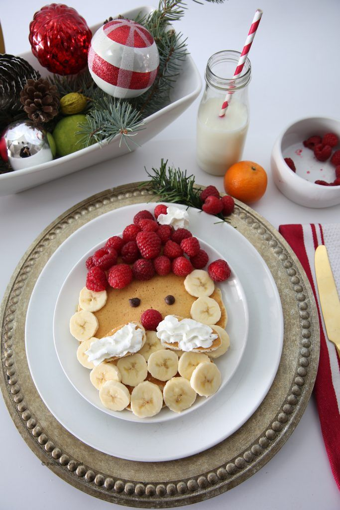 Make holiday breakfast special with these easy to make Santa Claus pancakes