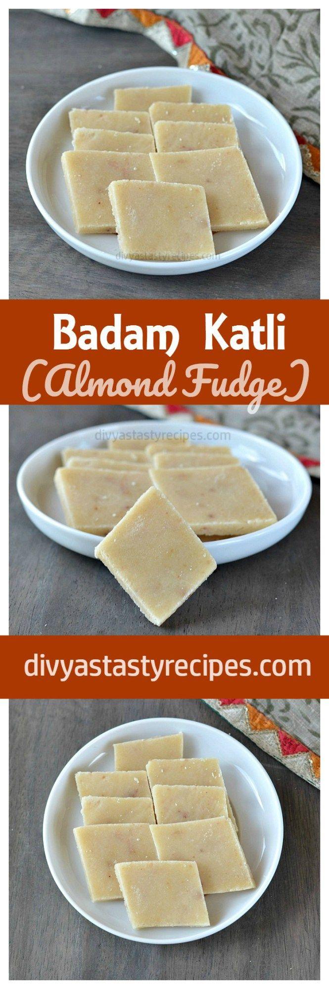 badam katli, vegan almond fudge