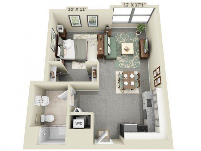 Small Apartment Floor Plans Design 27 best 3d floor plans images on pinterest   architecture, studio