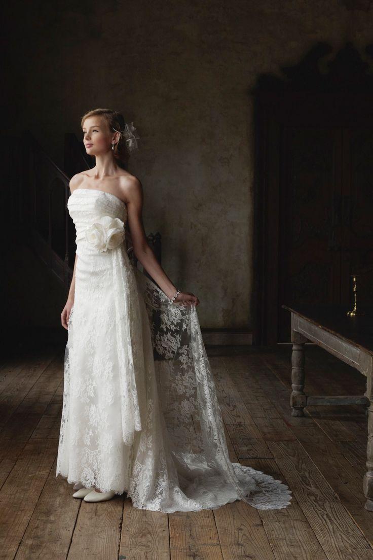 #BTNV176 #NOVARESE #weddingdress #classical #lace #ノバレーゼ #ウエディングドレス #Aライン #レース  #クラシカル #エンパイアドレス