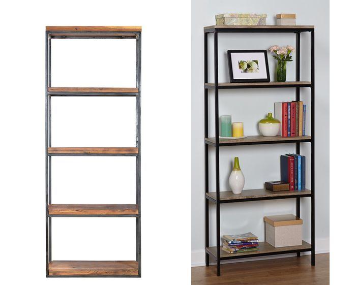 Ikea Hack Wood And Metal Bookshelf Real Happy Space Ikea Hack Wood And Metal Bookshelf Real Happy Sp In 2020 Metal Bookshelf Metal Bookcase Ikea Bookshelf Hack