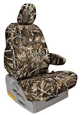 Custom Fit Toyota Tacoma Seat Covers (2009-2015) Front Seat Set - in Realtree Max-4 print - Low Back Sport Buckets w/ Adjustable Headrests (TRD and XRunner)