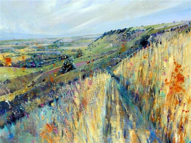 lorna holdcroft paintings   Lorna Holdcroft - Sussex Weald - Artists