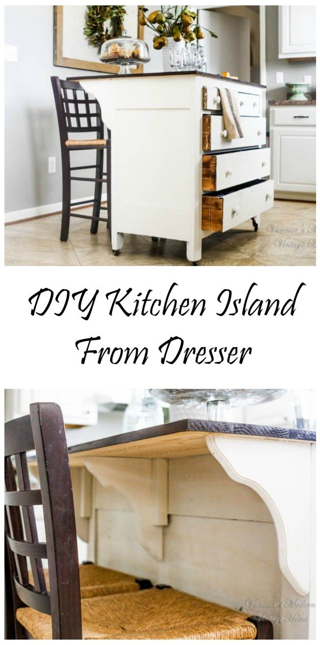 Need Kitchen Storage? Make A Kitchen Island From A Dresser. Kitchen  FurnitureFurniture ...