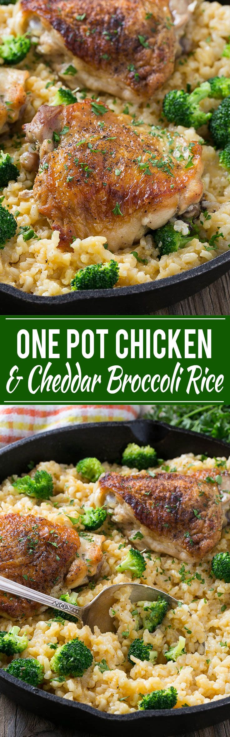 This One Pot Chicken With Cheddar Broccoli Rice Combines -8641