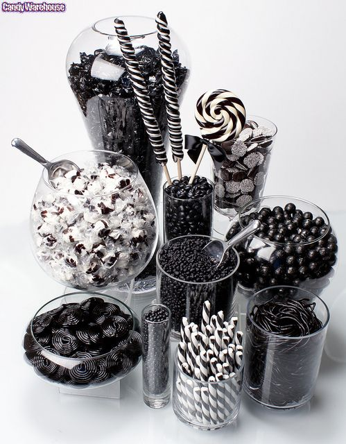 Black and white Candy Buffet!