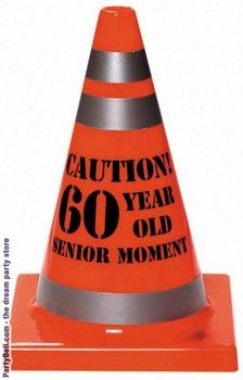 60th Birthday Party Themes caution. 60 year old bustin a move