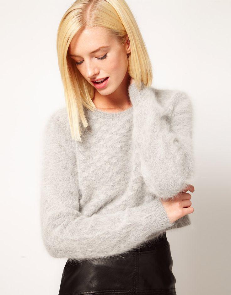 Fluffy lambswool sweater.