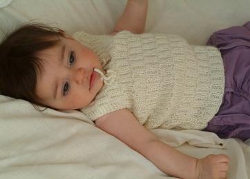 Babys uldne undertrøje