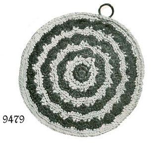 Round Stripes Potholder Pattern #9479 | Crochet Patterns