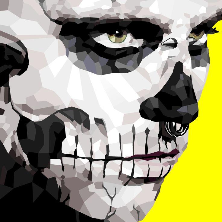 Skullboy #vectors #lines #skull #illustation