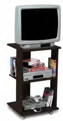 Porta televisione a colonna economico Wengè'  Art. CPSTV1523B18601    Carrello porta tv compatto con rotelle.  Il porta televisore in vendita ha la base e il piano superiore soft sagomati frontalmente e rivestito in abs, e l'intera struttura ha proprietà antigraffio e antiurto.  Il mobile porta tv ha una base di appoggio di dimensioni larghezza 45 cm e profondità 40 cm, ed è adatta ad sostenere qualsiasi piccolo televisore a tubo catodico, televisore lcd o al plasma.