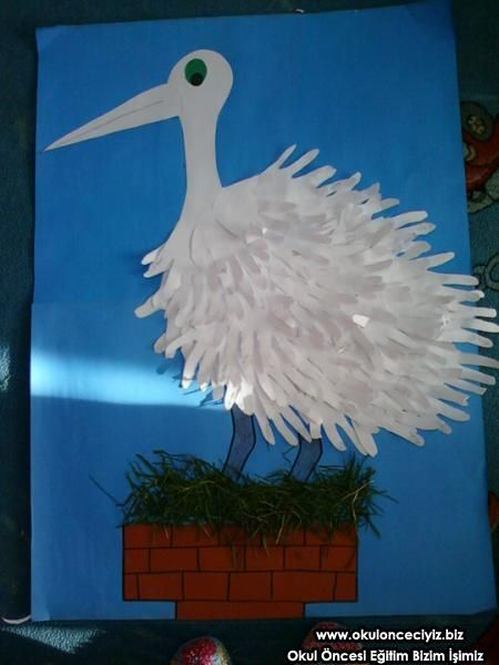 free stork craft for preschool kid