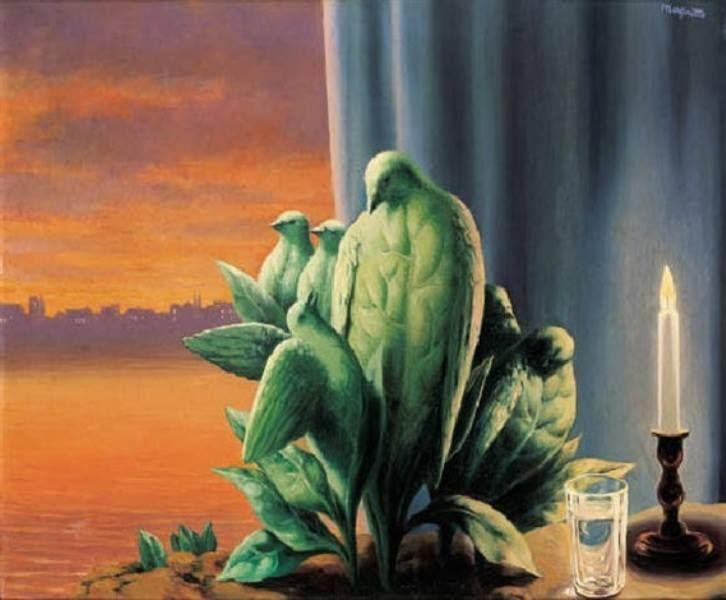 René Magritte - La nuit d'amour, 1947.
