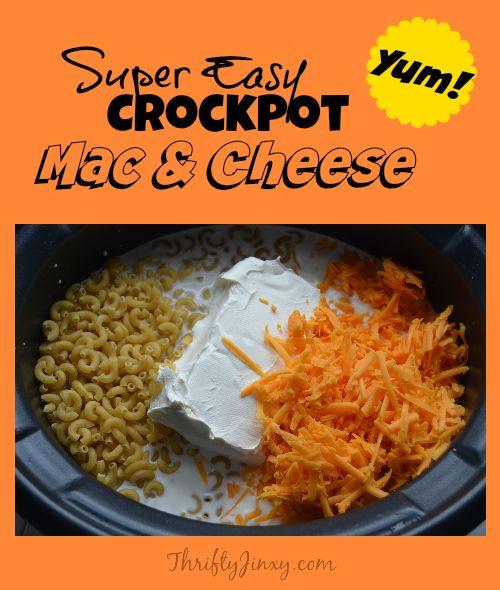 Easy Crockpot Macaroni and Cheese Recipe - Thrifty Jinxy